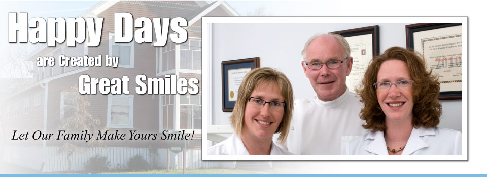 Happy Days are Created by Great Smiles – Let Our Family Make Yours Smile! | Smiling dental team
